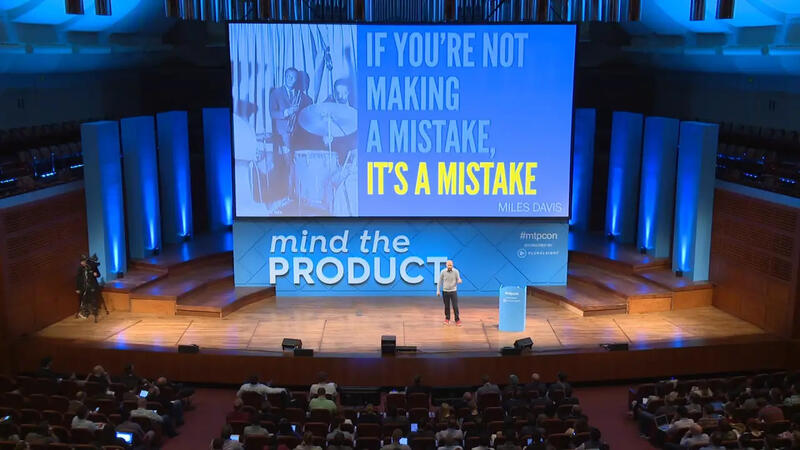 Ken Norton onstage at Mind the Product San Francisco, 2016